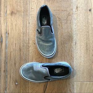 Vans classic Slip On Matte Silver Iridescent